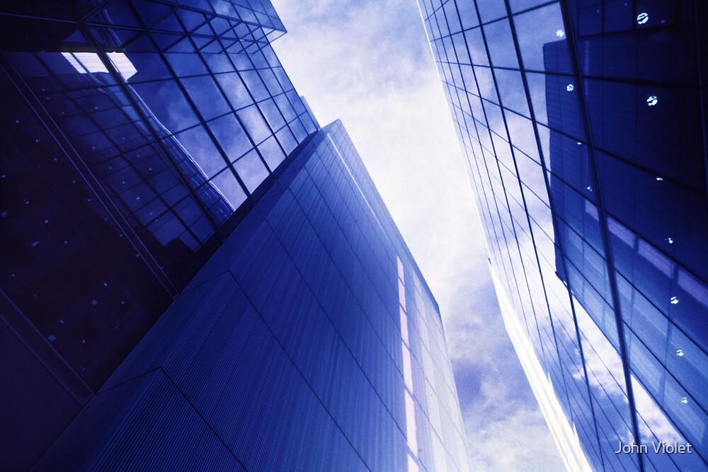 Blue Buildings  by John Violet