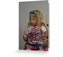 Pink Doll Greeting Card