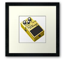 Super Cheese Guitar Pedal Framed Print