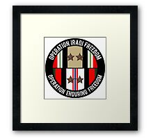 OIF and OEF deployments Framed Print