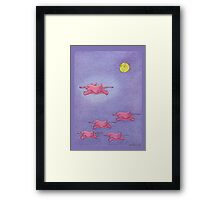 Flying Elephants Framed Print