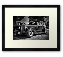 1934 Ford 3-window Coupe - B&W Framed Print