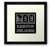 Rush Periodic Table  Framed Print