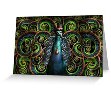 Steampunk - Pretty as a peacock Greeting Card