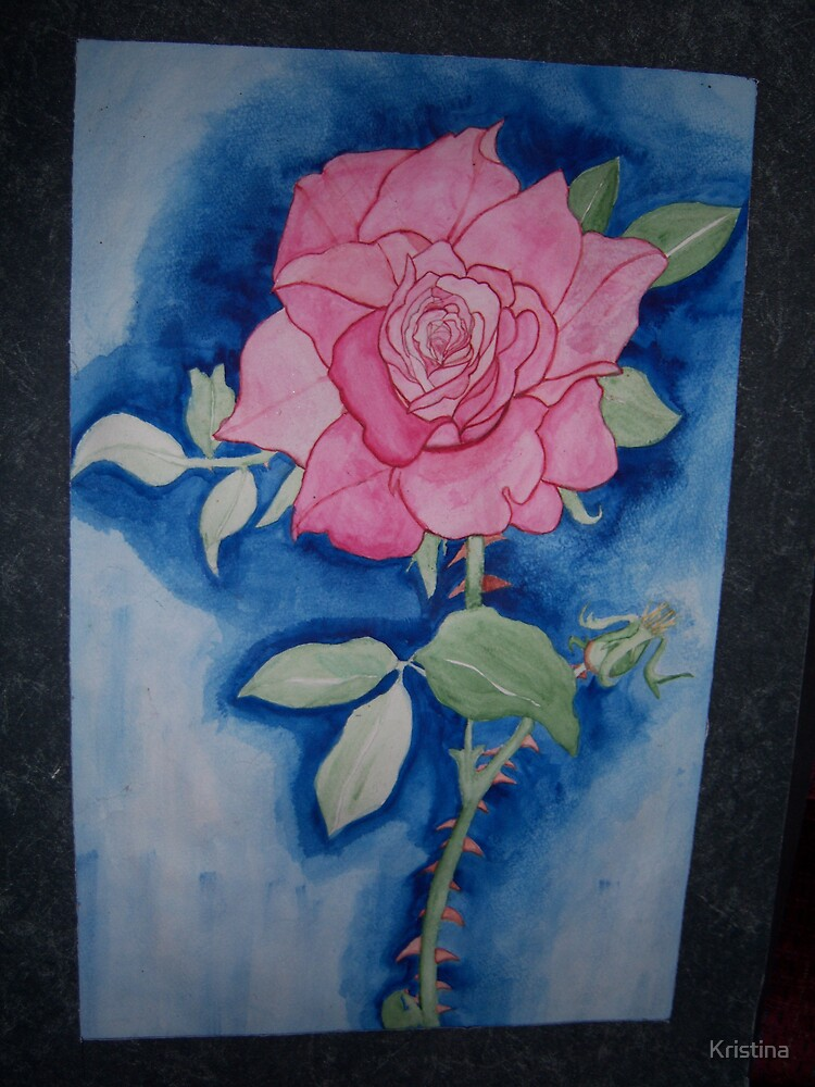 watercolor rose by Kristina
