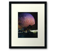 Epcot Night Framed Print