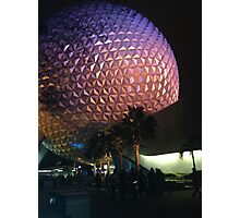 Epcot Night Photographic Print