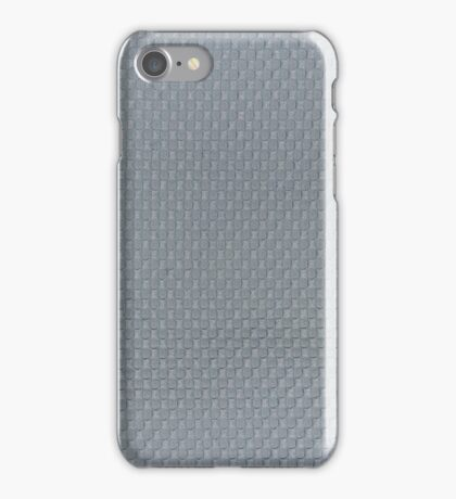 Blue cotton fabric texture background iPhone Case/Skin