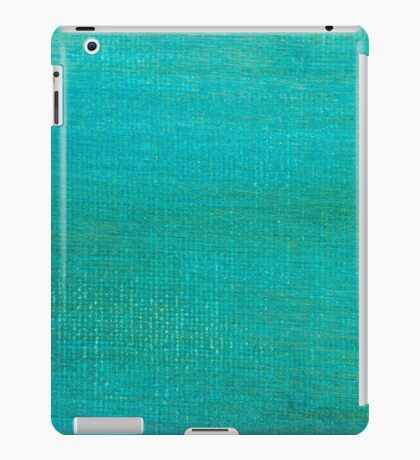 Painted green canvas background texture.  iPad Case/Skin