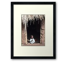 Baby at Home, Uganda Framed Print