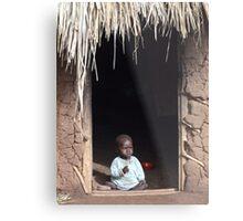 Baby at Home, Uganda Metal Print