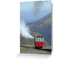 Snowdon Mountain Railway, Wales Greeting Card