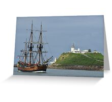 THE ENDEAVOUR REPLICA SAILING SHIP Greeting Card