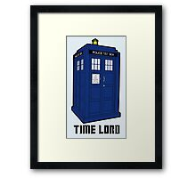 Time Lord, Dr. Who, BBC, Tenth Doctor, Geek, TV Show, Weeping Angels Framed Print