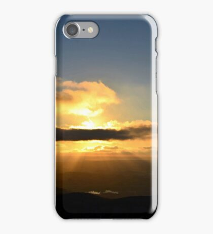 Double Peak Park Sunset with Rays iPhone Case/Skin