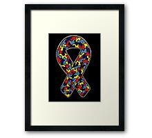 Autism Ribbon Framed Print