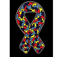 Autism Ribbon Photographic Print