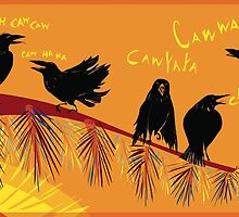Crow time by Wendy Wahman