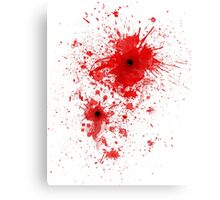 Blood spatter / bullet wound - Costume  Canvas Print