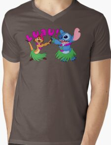 Luau! Mens V-Neck T-Shirt