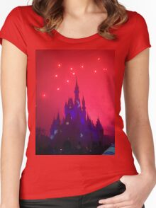 Wishes Magic Kingdom Women's Fitted Scoop T-Shirt