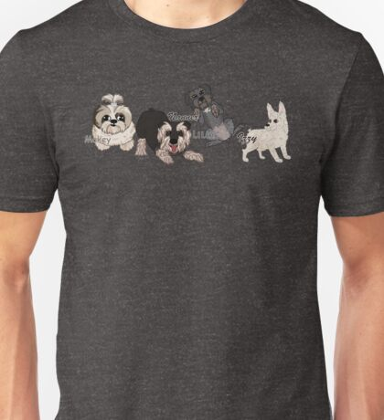 Custom Dogs Lineup Unisex T-Shirt