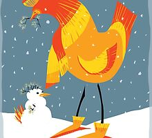Holiday Chicken Wishes by Wendy Wahman