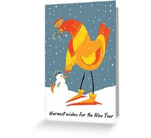 Holiday Chicken Wishes Greeting Card