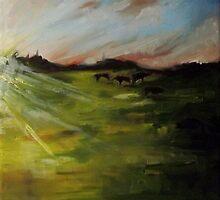 Cows at Dawn by KeLu