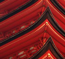 Red Pagoda by Jenny Hall