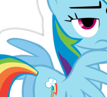 For the Plot (Rainbowdash) Sticker