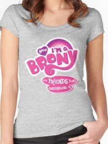 Yes I'm a Brony - My Little Pony Parody (Ver. 2) Women's Fitted Scoop T-Shirt