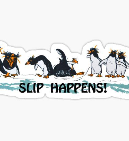 Slip Happens - Penguins Sticker