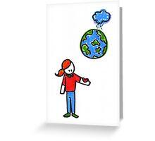 Sad Planet Greeting Card