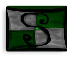 Slytherin Banner Canvas Print