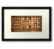 Printer's Drawer Framed Print