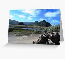 trekking in NZ Greeting Card