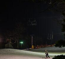 Night Skiing by Lois  Bryan