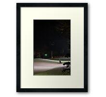 Night Skiing Framed Print