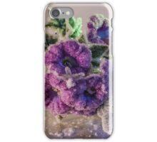 Crystal Purple Flowers iPhone Case/Skin