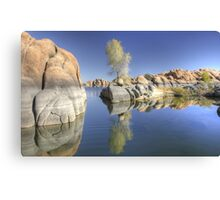 Reflections in Watson Lake Canvas Print