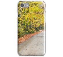 Autumn Country Road iPhone Case/Skin