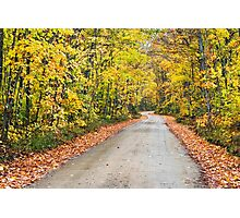 Autumn Country Road Photographic Print