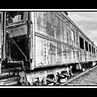 Train Car in Black and White by Dawn Crouse