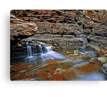 Small Waterfall, Hancock Gorge Canvas Print