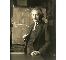 Albert Einstein - Chalkboard Photographic Print