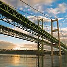 Tacoma Narrows Bridges by garretray