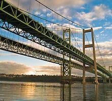Tacoma Narrows Bridges by garretray