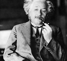 Albert Einstein with a Pipe by GodsAutopsy