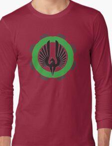 DarkHorse Design Logo Green Long Sleeve T-Shirt